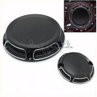 Black Motorcycle Billet Aluminum 6 Hole Beveled Derby Cover Timing Timer Covers For Harley 2004 16