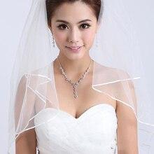 Mais barato!! alta Qualidade Frete Grátis Atacado/Varejo Branco Marfim Uma Camada de Véu De Noiva Curto Véu de Noiva Acessórios Para Noivas