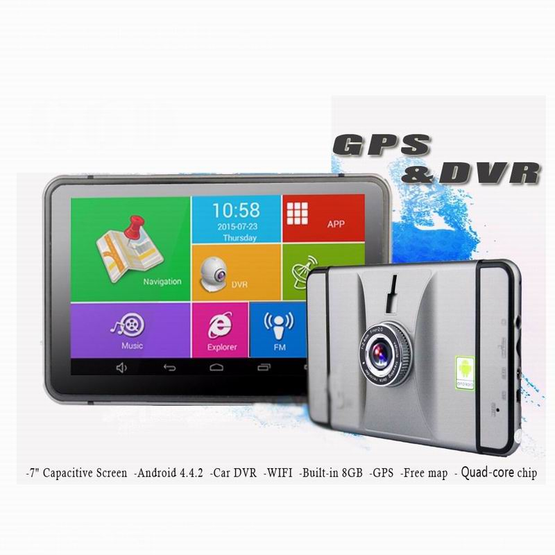 High Quality 7 Inch Android Car DVR GPS Navigation 1080P Camera Recorder GPS Navigator WIFI Tablet PC Europe Or Russia Maps Free 7 inch gps pnd portable car gps navigator new maps for russia satellite navigation