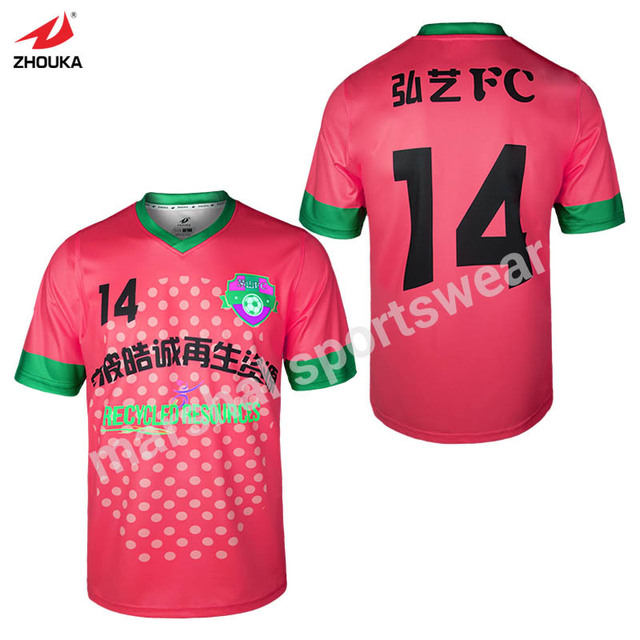 d0eed57cca7 100% polyester dry fit full sublimation custom team soccer uniform New  Design Sulbimation Printing Thai Quality Soccer Jersey