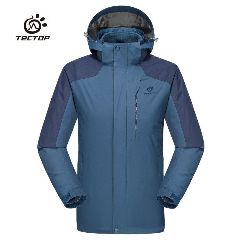 2018 Tectop hommes trois-en-un randonnée veste intérieur respirant polaire imperméable coupe-vent manteau extérieur sport veste