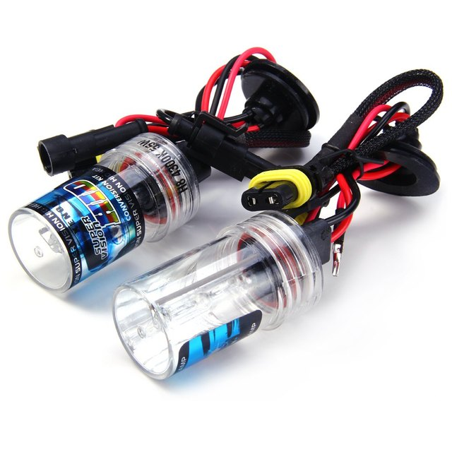 H8 55W 12V Super Bright High Output Easy to Use Low Power Consumption 4300K 4000lm HID Xenon Lamp Car Headlamp 2pcs for Vehicle