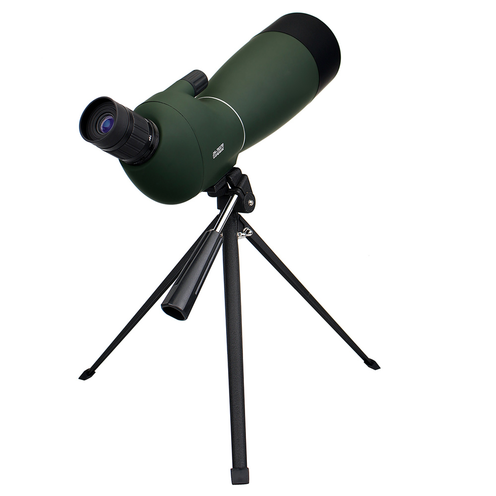 LAIDA Spotting Scope 25-75x70 Zoom Telescope Angled Monocular for Hunting Camping Hiking Birdwatching w/ Tripod Soft Case M0064B цена