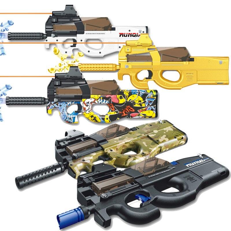P90 jouet pistolet d'assaut Sniper arme eau balle pistolet en plein air en direct CS jeu électrique éclate Paintball pistolet jouets pour enfants