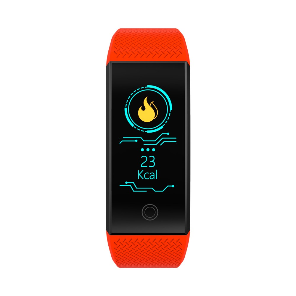 Smart Wristband Fitness Bracelet Big Touch Screen Oled Message Display Heart Rate Time Smartband Ip68 Waterproof Smart Watch Watches Men's Watches