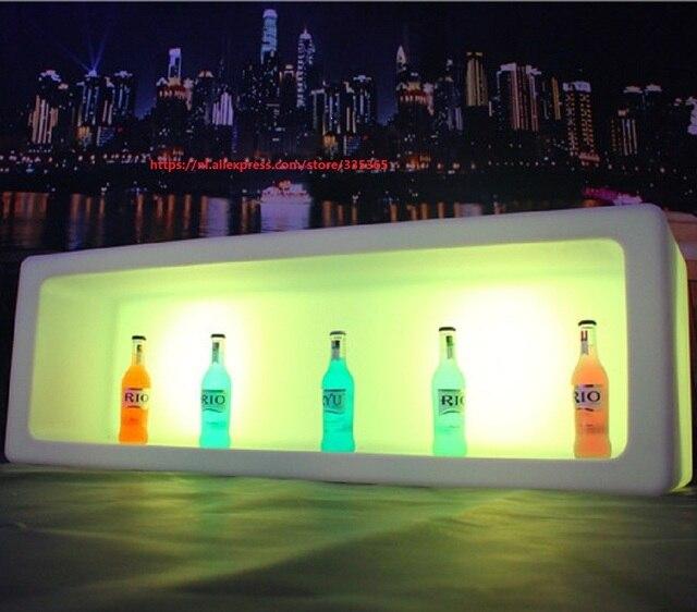 Acrylic 1200x400x400mm Rgb Led Ice Wine Bottle Boxes Led Cabinet
