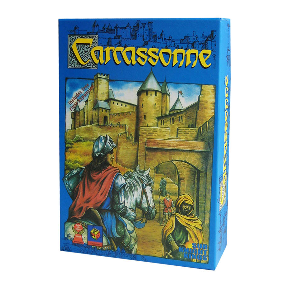 Free shipping The Carcassonne clever tile laying game 2 to 5 players Board Game Party Games