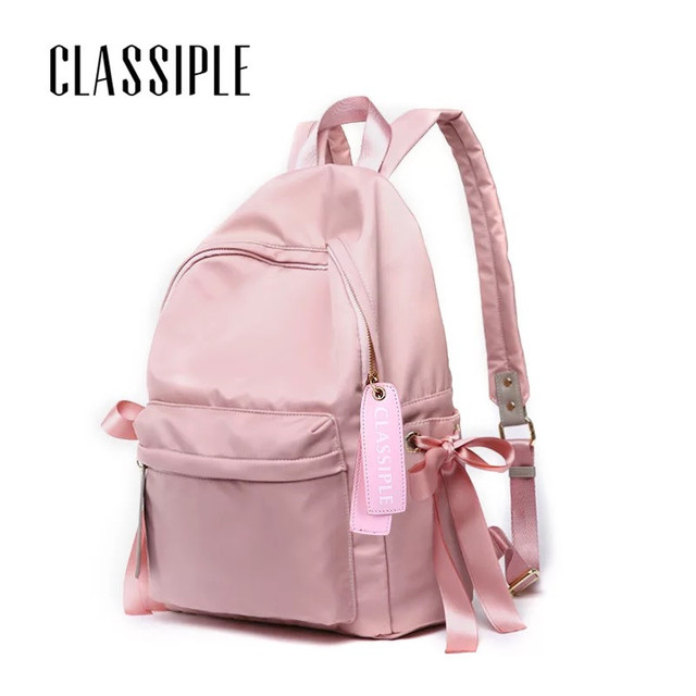 Backpacks To School Pink Bow Cute Backpacks College Schoolbag Backpack Girls  Large Travel Women s Backpack Bag c2f92d0bf6e18