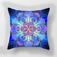 Fuwatacchi 3D Flower Print Cushion Cover Fluorescence Floral Decorative Pillows Cover Chair HomeWedding Decoration Pillow case flower print tissue cover
