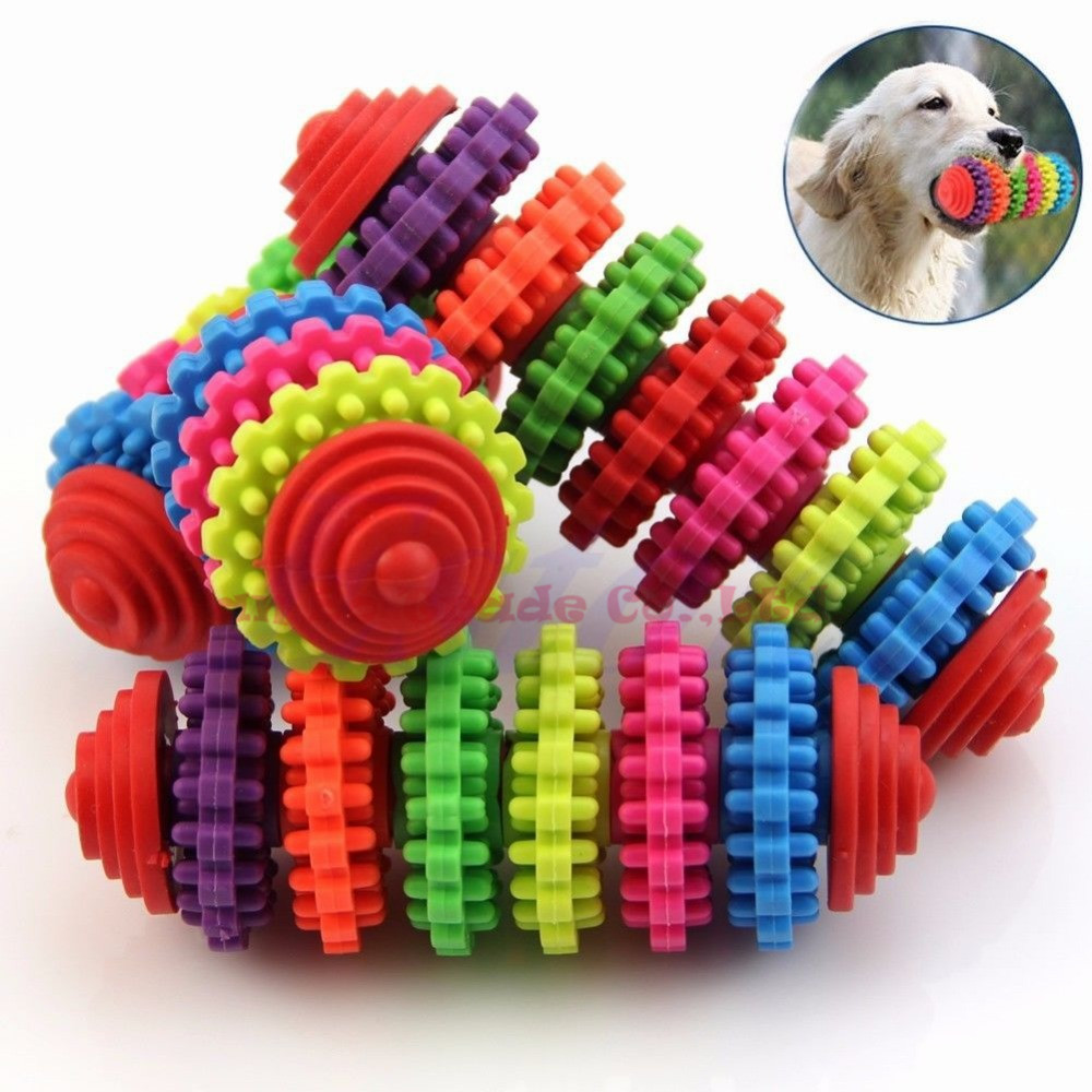 2015 new arrival Colorful Rubber Pet Dog Puppy Dental Teething Healthy Teeth Gums Chew Toys Tool hot sale FRANnn