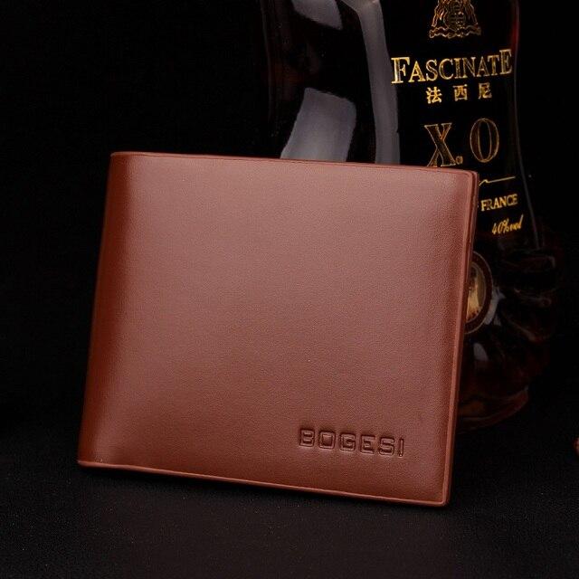 Bogesi Merek Terkenal Luxury Slim Dompet Pria Dompet Pria Clamp untuk Klip  Uang Walet Portofolio Cuzdan 4cb7a3aa7b