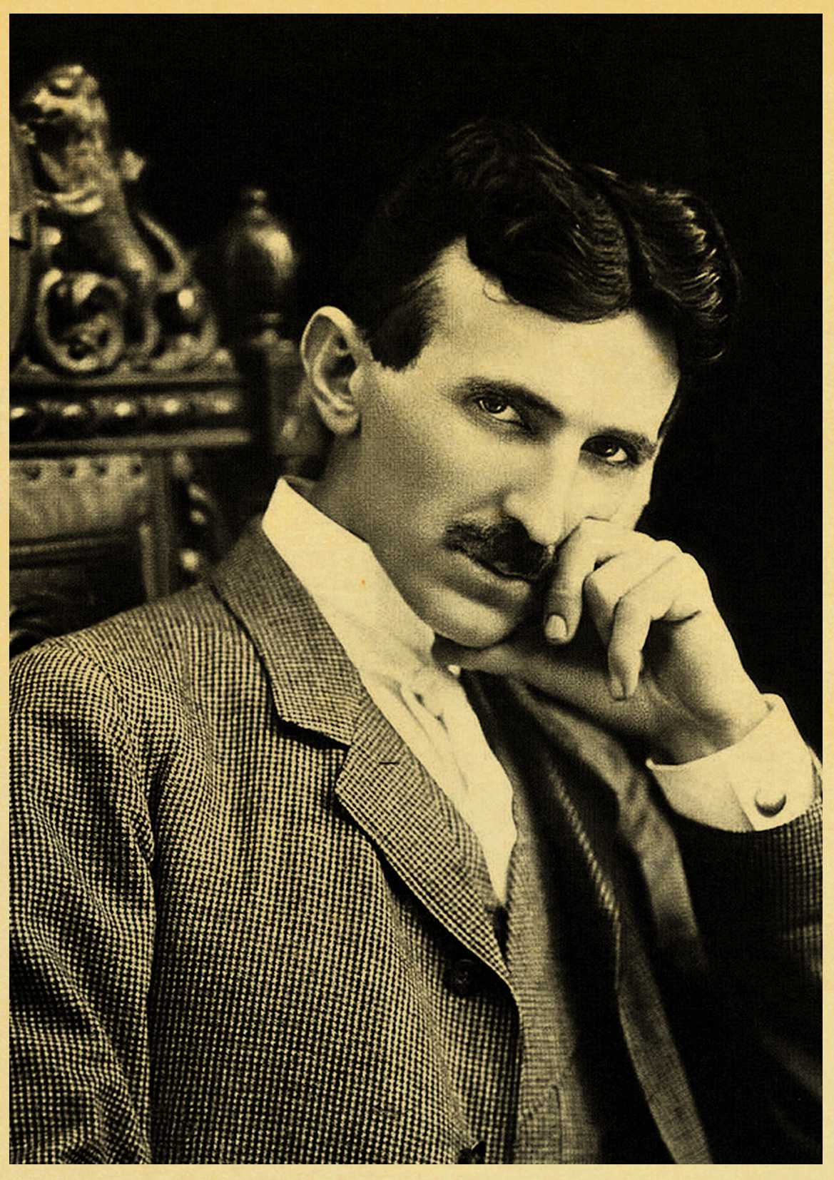 Vintage Poster and Prints Nikola Tesla Poster coil turbine ...