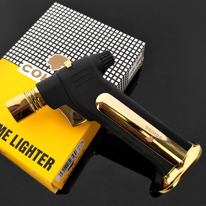 COHIBA Dedicated Cigar Jet Torch Lighter Windproof Refillable Gas Cigarette lighter