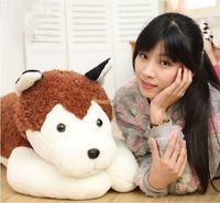 Fancytrader 35 '' / 90cm súper divertido relleno suave felpa gigante animal lindo de Brown Husky perro de juguete, envío libre FT50842