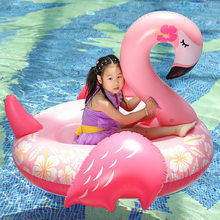 150*105CM Giant Inflatable Flamingo Pool Floats Tube Swimming Ring Circle Water Mattress Bed For Adults Water Holiday Party Toys(China)