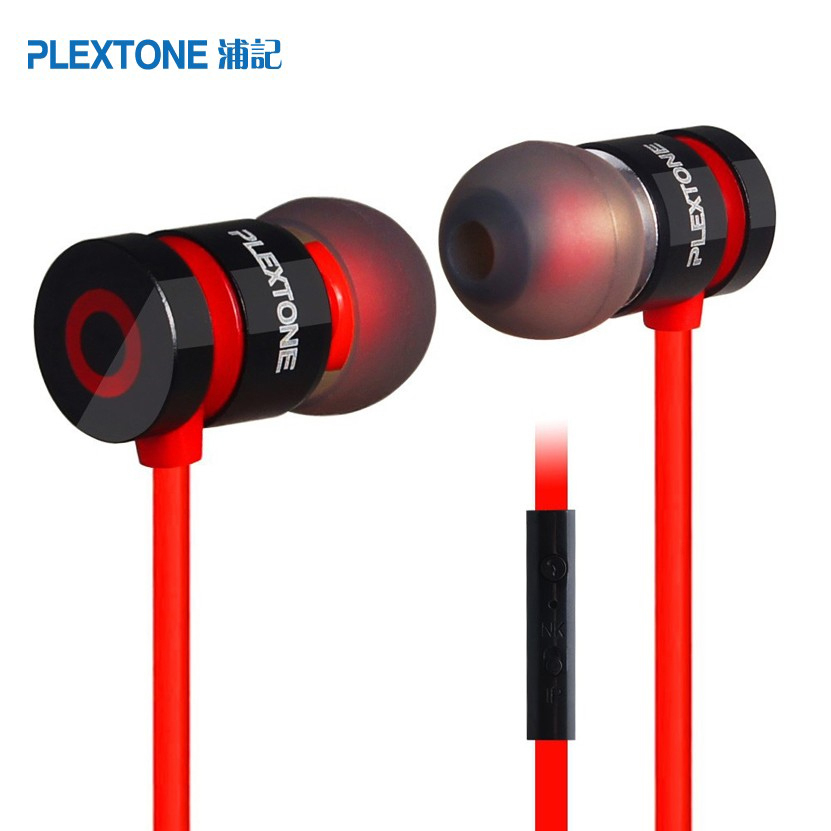 D'origine Plextone x6 Stéréo Basse fone de ouvido Casque dans l'oreille casque Antibruit Écouteurs Pour huawei xiaomi Smartphone