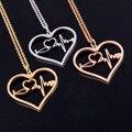 Enfermera Médica Estetoscopio Latido Del Corazón Del Encanto Del Corazón Colgante de Collar de Oro Rosa/Oro/Plata Te Amo Collares de La Joyería Bijoux