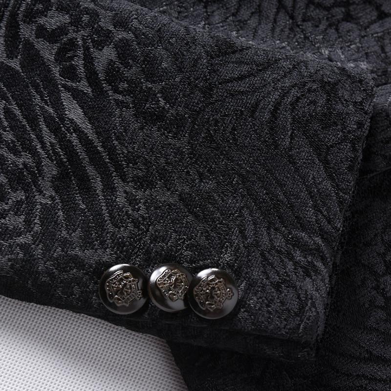 Loisirs Nouveau Qualité Xf106 D'hiver Automne Veste Gratuite 2016 Homme Imprimé Style Hommes Costume Costumes Et Blazers De Haute Mode Noir Livraison TntSSO8x
