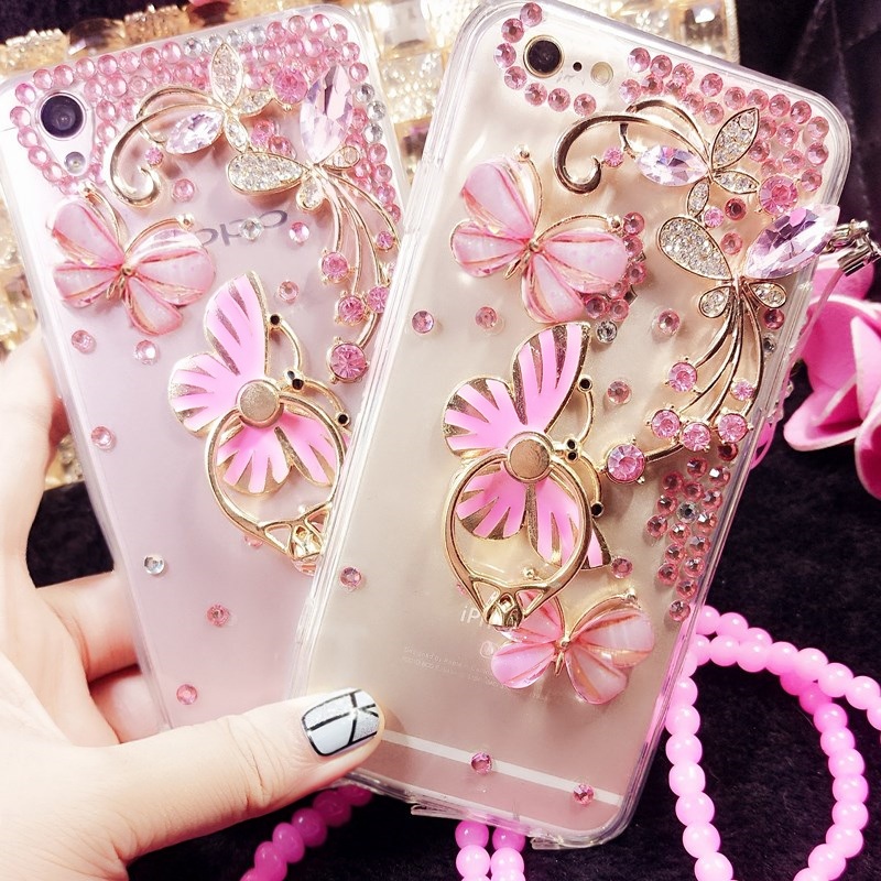 Butterfly Finger Ring Stand Holder Phone Case For Google Pixel 2 3 XL Phone Back Cover Protective Shell For Google Pixel XL 2 3