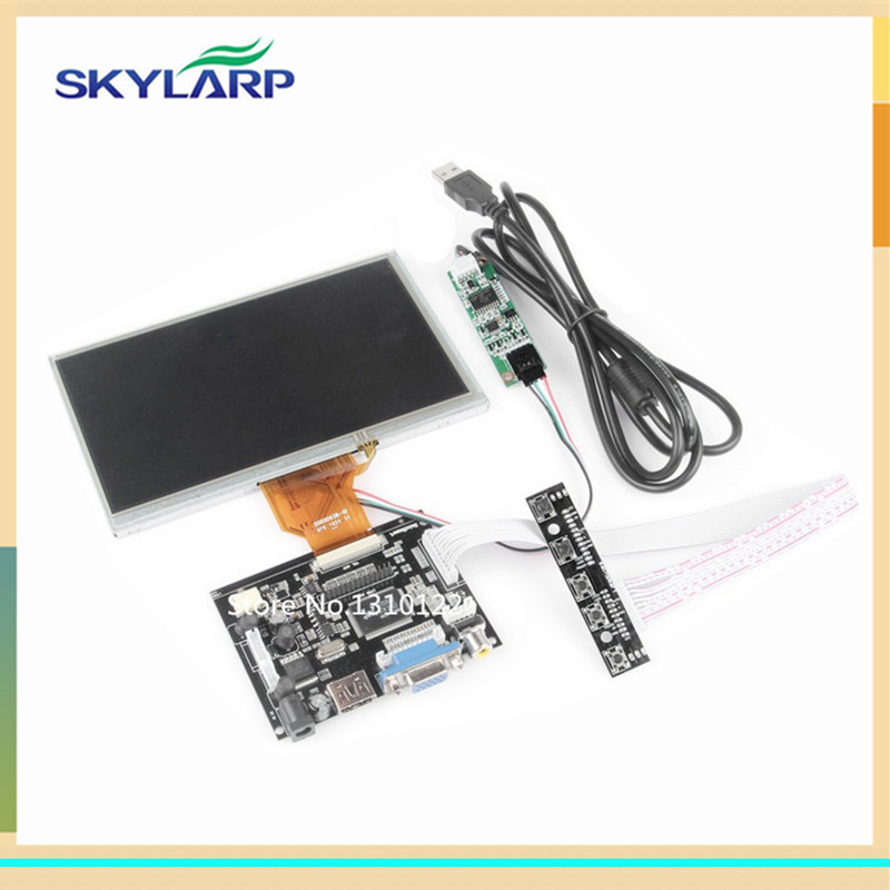 skylarpu 7 inch LCD Display with Touch TFT Monitor for AT070TN93 with HDMI VGA Input Driver Board Controller for Raspberry Pi 7 inch 1280 800 lcd display monitor screen with hdmi vga 2av driver board for raspberry pi 3 2 model b