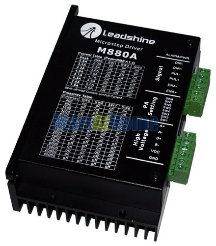 Leadshine M880A CNC Router 2-Phase Hybrid Stepper Drive Driver 80V DC 7.8A 300 KHz #SM026 @SD 2pcs lot leadshine 2 phase high precision stepper drive am882