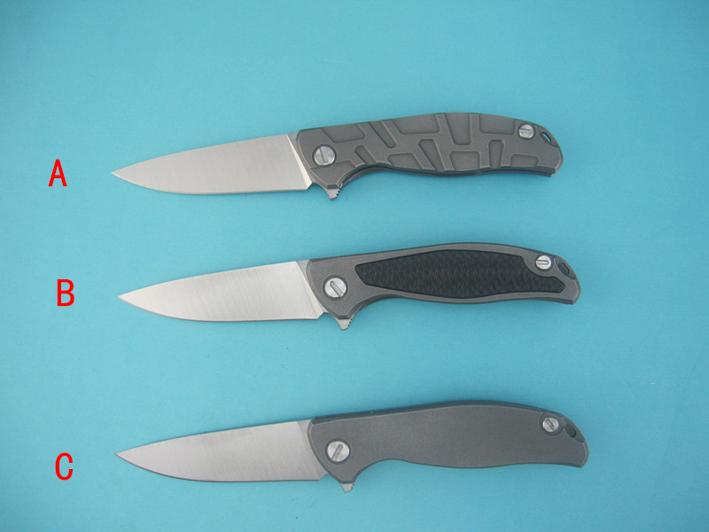 YiDu Green thorn F95 folding knife bearing S35vn blade TC4 Titanium handle outdoor camping hunting pocket
