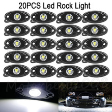 20Pcs Universal 9W LED Rock Light LED Light 4×4 Under Body Trail Rig Light SUV Car Decorative Lamp White Red Blue Yellow Green
