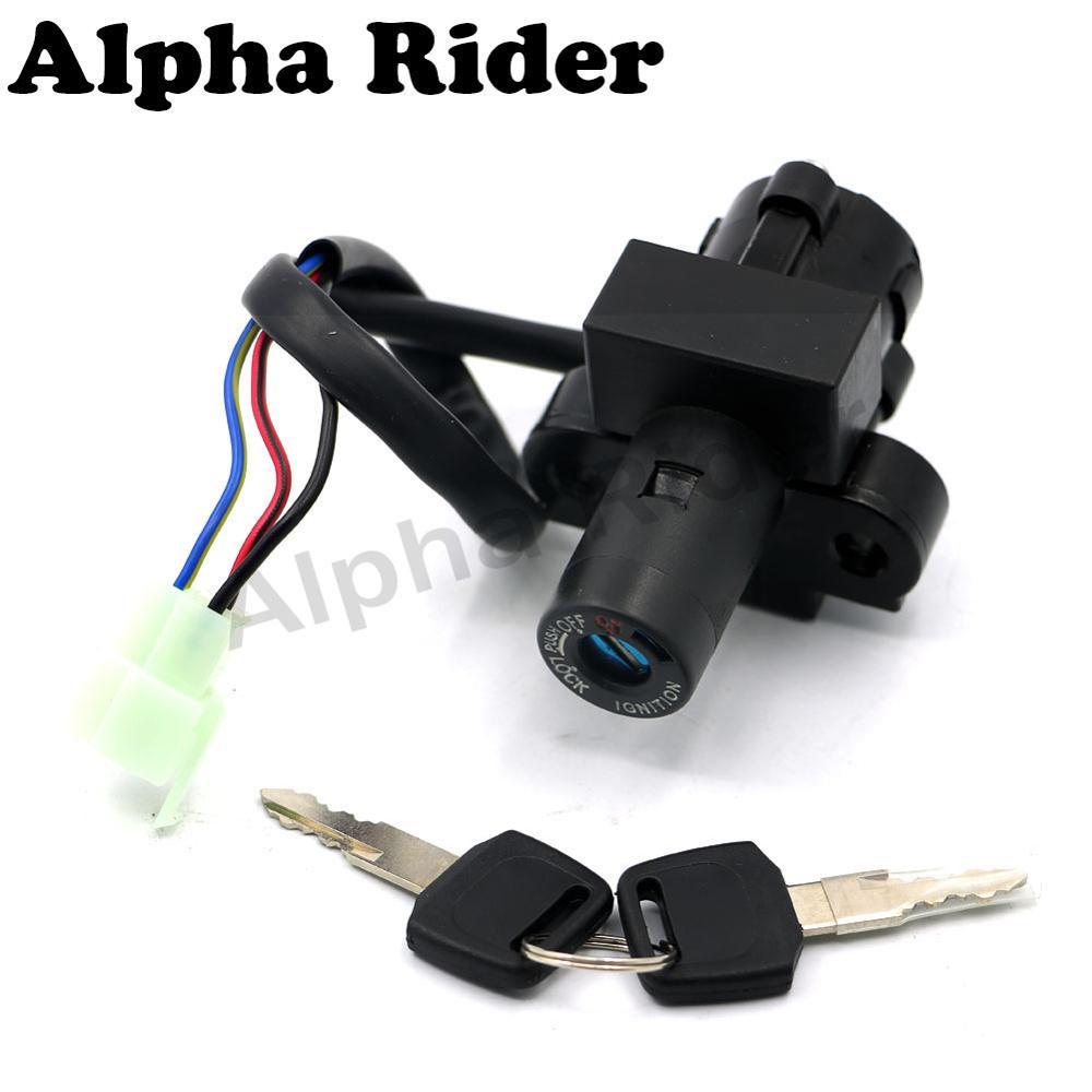 Motorcycle 3 Wires Ignition Switch Lock Key Set for Honda VFR400 NC21/NC24/NC30 CB500 CBR1100XX CBR600 NX650 RVF400 VFR750 XL400