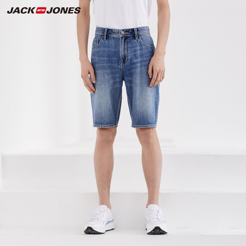 JackJones Men's 100% Cotton Knee-high Denim Shorts Basic Menswear|219243502