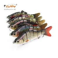 5 pçs/lote Fishing Lure 6 Segmento Swimbait Crankbait Hard Bait Lento 110g 20 cm COM gancho De Pesca Equipamento De Pesca FL6-BQ PESCA COM MOSCA
