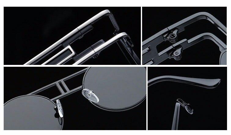 CandisGY mote metall ramme steampunk solbriller kvinner merkevare - Klær tilbehør - Bilde 6