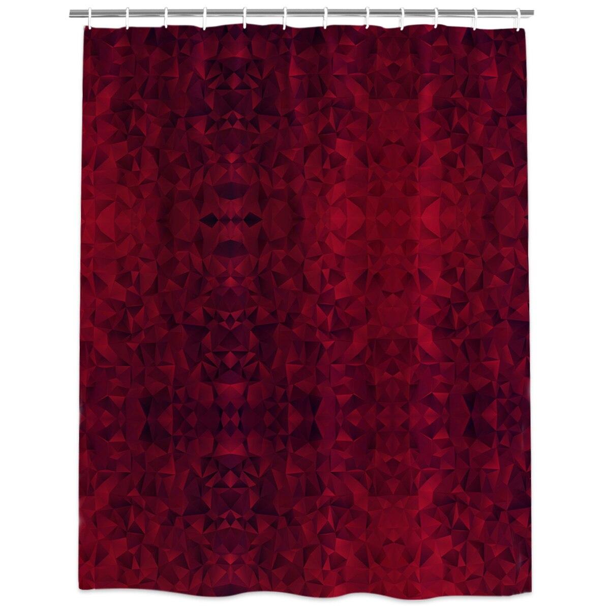1 Shower Curtain Fabric Hooks Bathroom Set Bath Mats