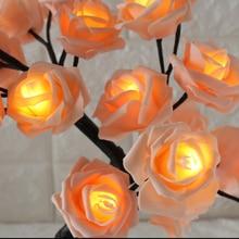 Настольная лампа в форме розы, декоративный светильник для гостиной, спальни, TN88