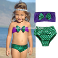 Baby Mermaid Bikini Baby Bikini Set Child's Swimsuit Little Mermaid Swimsuit purple Mermaid Swimming Costumes