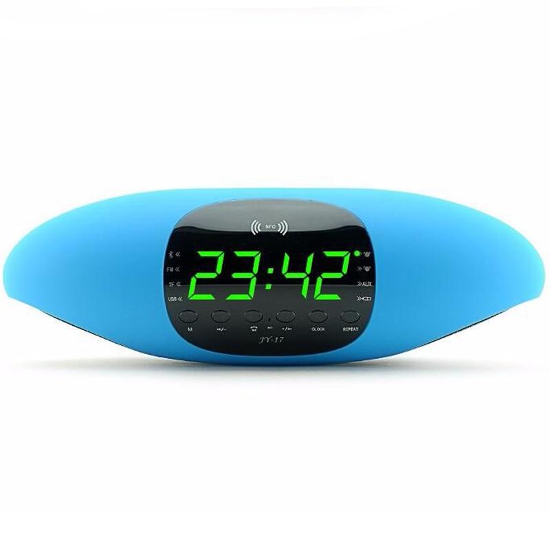 Large Digital Screen Bluetooth Speaker Audio NFC Card FM APP Software Intelligent Control Alarm Clock Function U Disk Playback