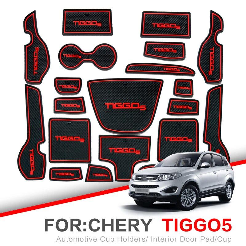 ZUNDUO Gate slot pad  For Chery Tiggo 5 2014 2015 2016 2017 2018 Grand Tiggo5 Interior Door Pad/Cup Non-slip MatsZUNDUO Gate slot pad  For Chery Tiggo 5 2014 2015 2016 2017 2018 Grand Tiggo5 Interior Door Pad/Cup Non-slip Mats
