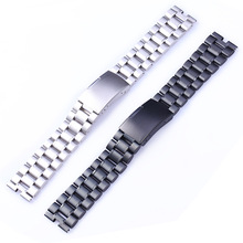 купить Black Silver Watchbands 22mm High Quality Stainless Steel Watch Band Bracelet For Motorola Moto 360 2nd 46mm по цене 638.29 рублей