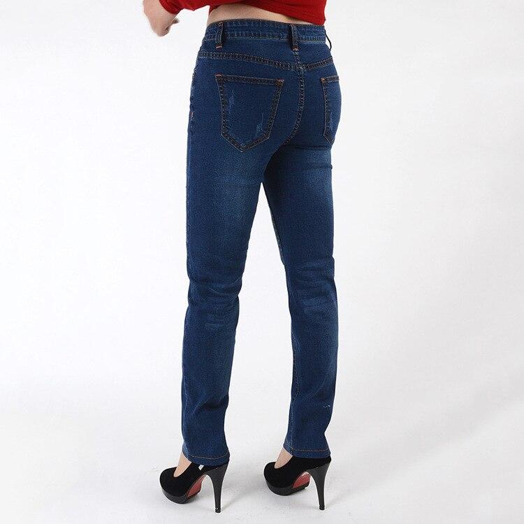 Pas Mode Skinny La Plus Été 2018 Femmes Coton 7xl En Bleu Gros Taille Pantalon Cher Haute Dames Blue Jeans De 8YEZwq