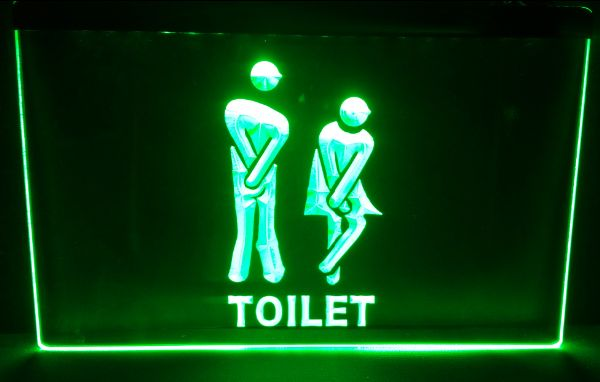 Funny Toilet Entrance Led Neon Sign Home Decor Shop Crafts In