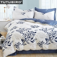 Blue Leaf Print Bohemian Duvet Covers Bedding Sets Red Striped Plaid Dovet Cover Blue Floral Butterfly