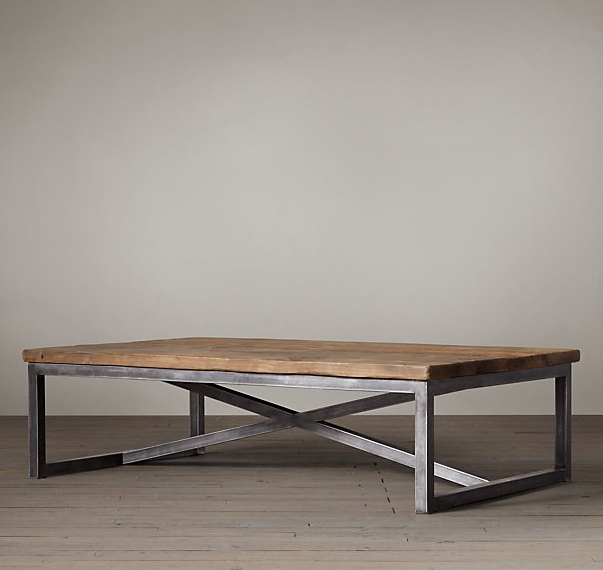 Wrought Iron Coffee Table Made Of Solid Wood Furniture
