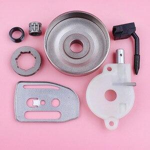 Image 2 - Llanta de rueda dentada para Husqvarna 36 41 136 137 141 142, bomba de aceite, engranaje helicoidal, placa de barra, motosierra, repuesto de pieza de repuesto