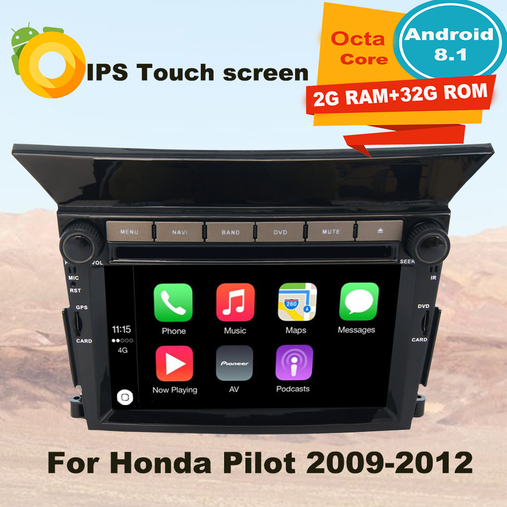 Support Apple Carplay Android 8.1 Car Radio <font><b>GPS</b></font> Multimedia Player <font><b>For</b></font> <font><b>Honda</b></font> <font><b>Pilot</b></font> 2009 2010 2011 2012 Auto Navigation Stereo image