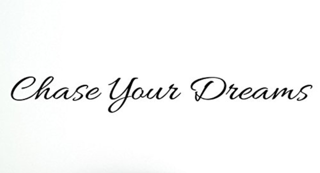 yingkai chase your dreams motivational quotes vinyl carving wall