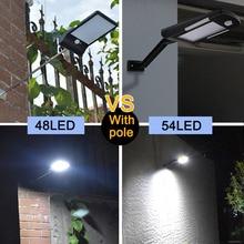 48/54 LED Solar Power Light: PIR Motion Sensor/Waterproof/Wall Mounted