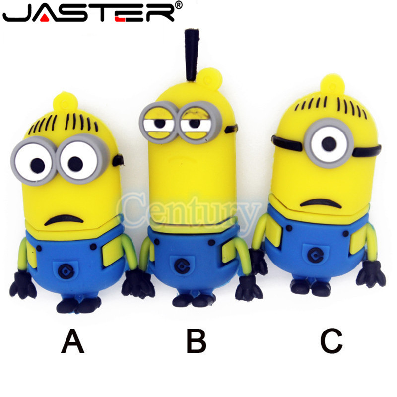 JASTER Popular Pendrives Small Gadget USB Flash Mini Cute Minions Memory USB 2.0 Pen Drive 4GB 8GB 16GB 32GB 64GB Gift Cle Flash