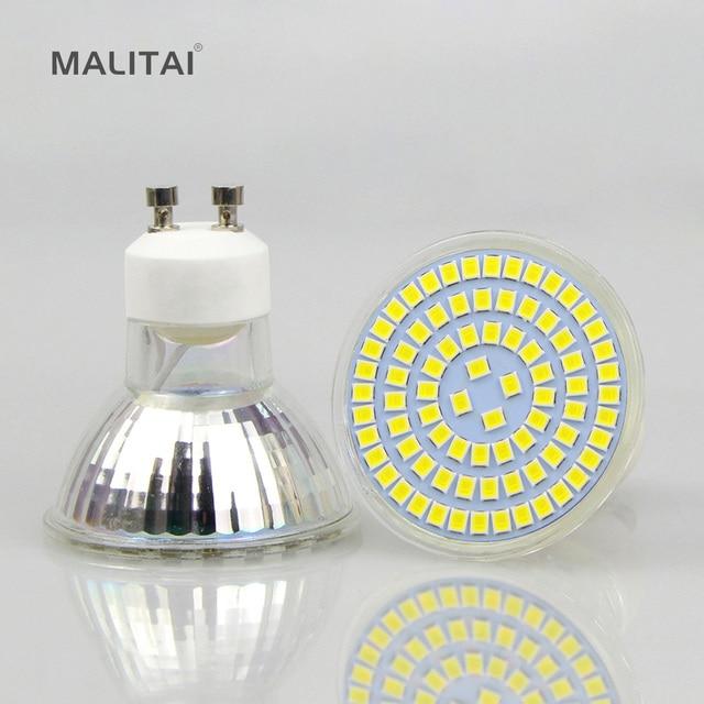 1 stks Hittebestendige Glas LED Spot Lamp GU10 MR16 GU5.3 7 w DC12V ...