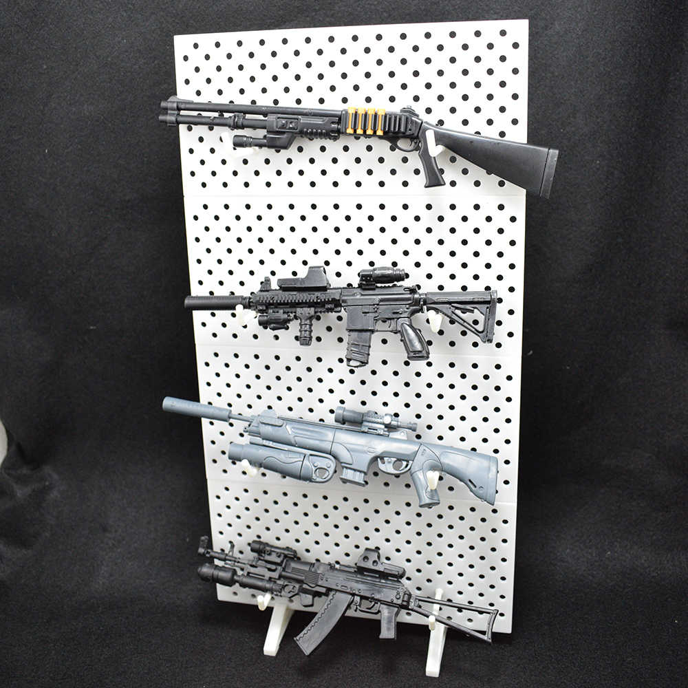 """For 1:6 1/6 Scale Modular Weapons Display Stand Wall Guns Rack Set 12"""" Figure Fix MG HG Gundam Models Weapons Guns Not Included"""