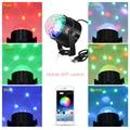 USB LED диско свет шар звук Вечеринка огни DJ сценическая Вращающаяся лампа диско-шар лазерные огни с Bluetooth APP пульт дистанционного управления а...
