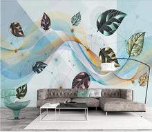Private custom wallpaper mural Nordic modern geometric line bedroom living room background wallpaper